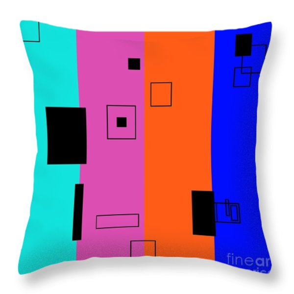 Simple Color 2 Throw Pillow by Eloise Schneider