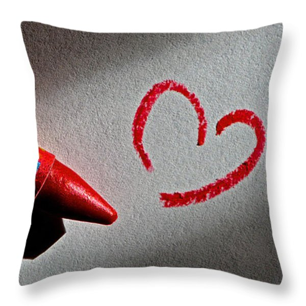 Simple Love Throw Pillow by Bill Owen