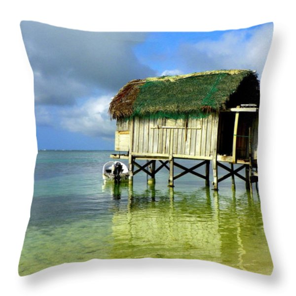 Simple Solitude Throw Pillow by Karen Wiles