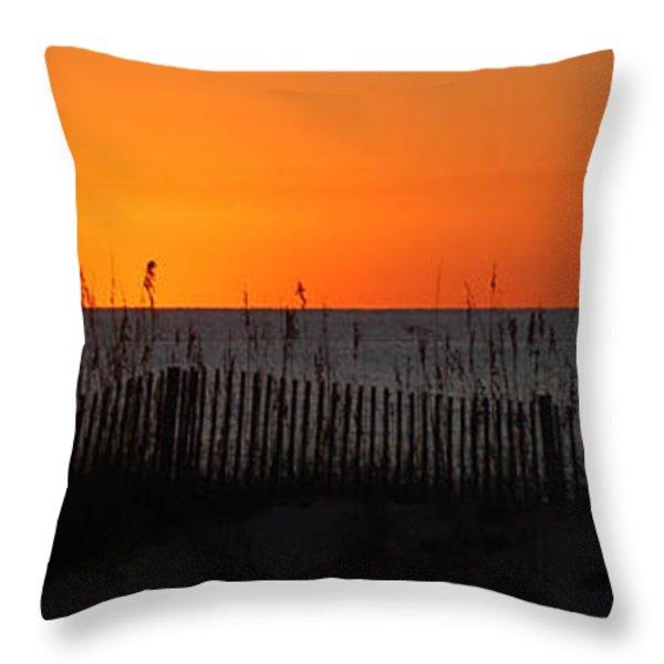 Simply Orange Throw Pillow by Michael Thomas