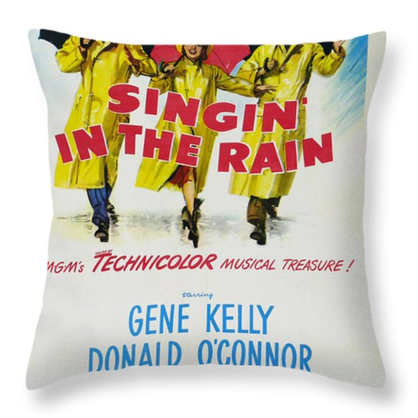 Singin In The Rain Throw Pillow by Nomad Art And  Design