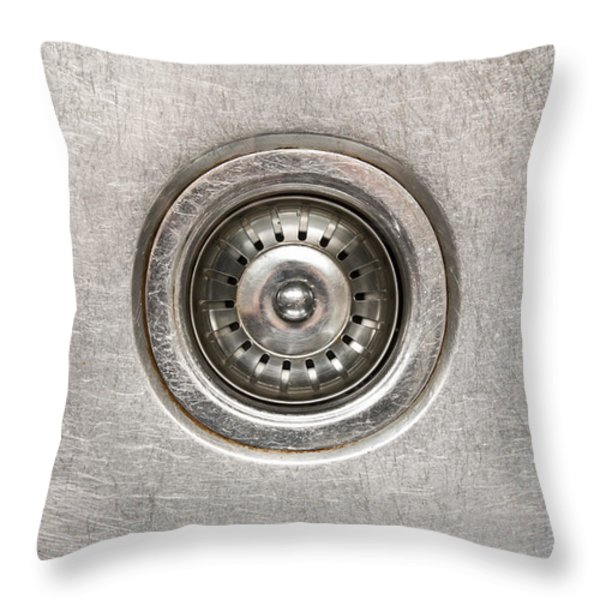 Sink Plug Throw Pillow by Tim Hester