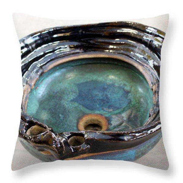 Sink Series 0025 Throw Pillow by Richard Sean Manning