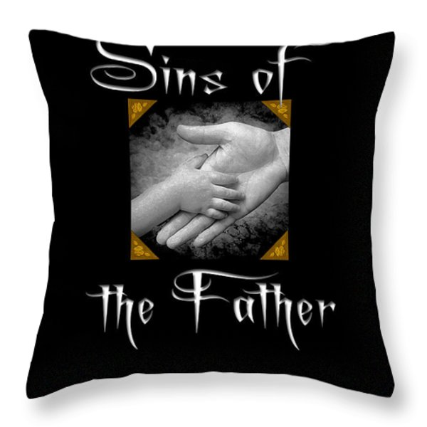 Sins of the Father book cover Throw Pillow by Mike Nellums