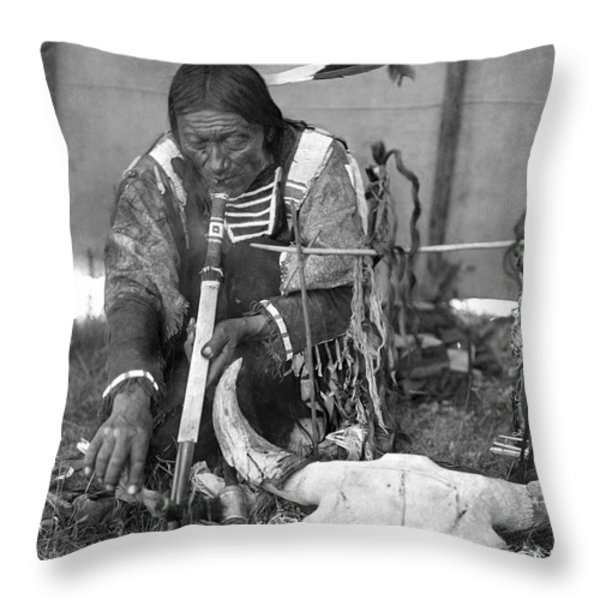 Sioux Medicine Man, C1907 Throw Pillow by Granger