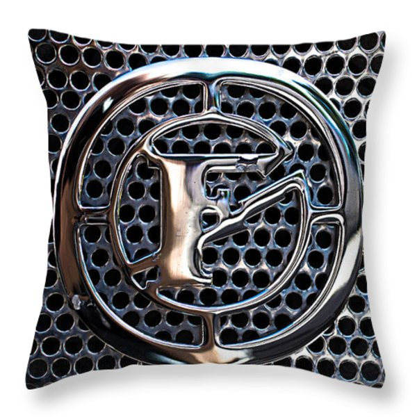 Siren Fire Engine Number Three Throw Pillow by Bob Orsillo