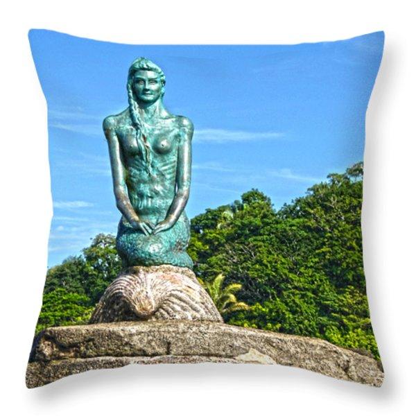 Sirena Playa Esterillos Oeste Costa Rica II  Throw Pillow by Michelle Wiarda