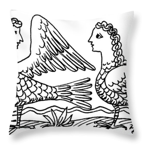 Sirens, Mythological Creature Throw Pillow by Photo Researchers