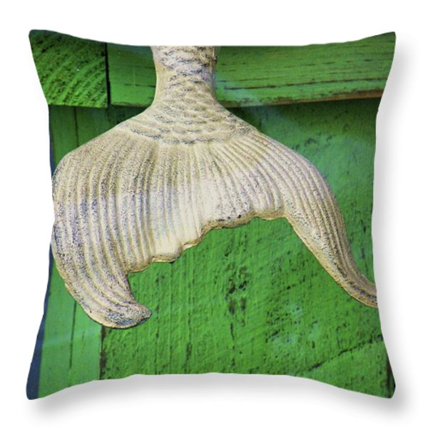 Siren's Tail Throw Pillow by Joe Jake Pratt