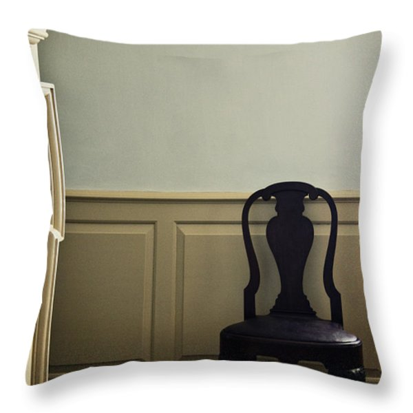 Sit By The Fire Throw Pillow by Margie Hurwich