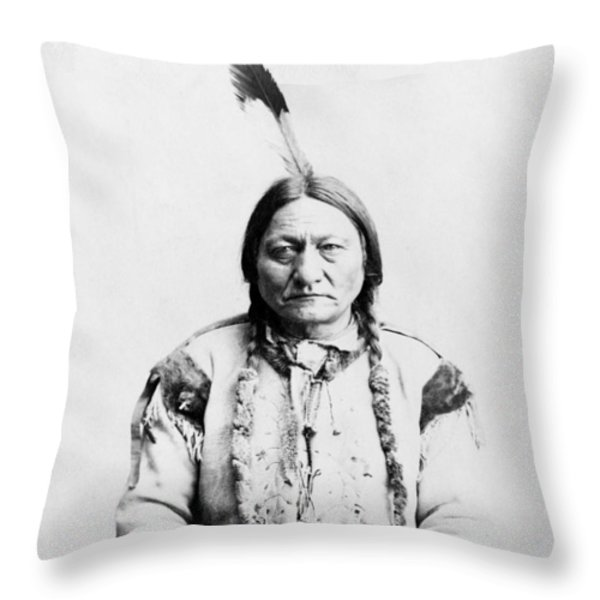 Sitting Bull Throw Pillow by War Is Hell Store