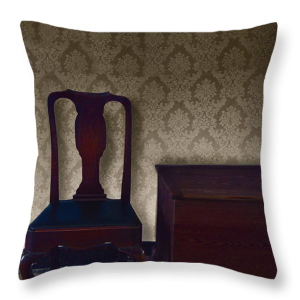 Sitting Room at Dusk Throw Pillow by Margie Hurwich