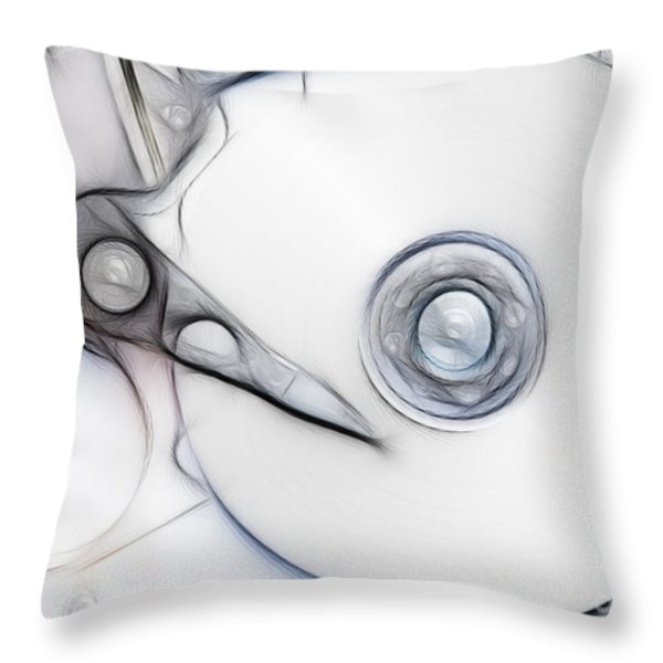 sketch of the hard disc Throw Pillow by Michal Boubin