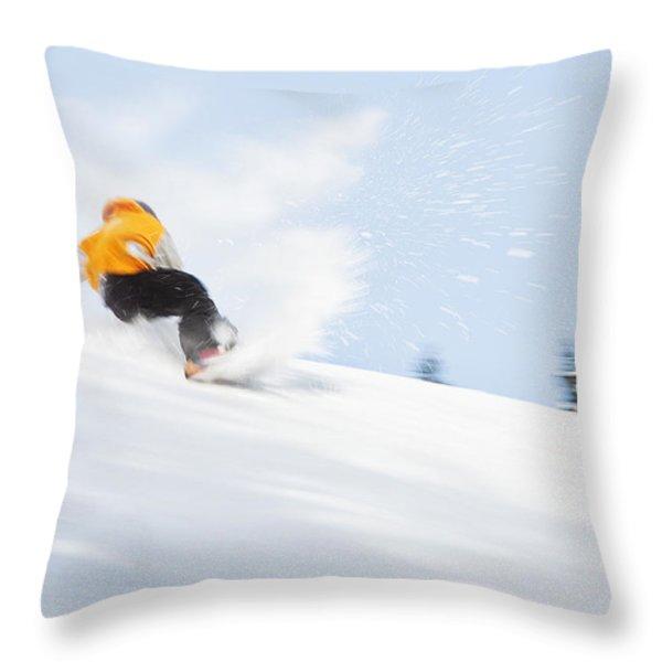 SKETCHY LANDING Throw Pillow by Theresa Tahara