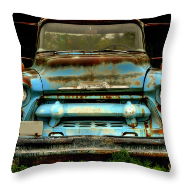 Sky Blue And Still Cool Throw Pillow by Thomas Young