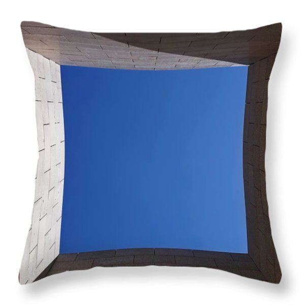 Sky Box At The Getty 2 Throw Pillow by Rona Black