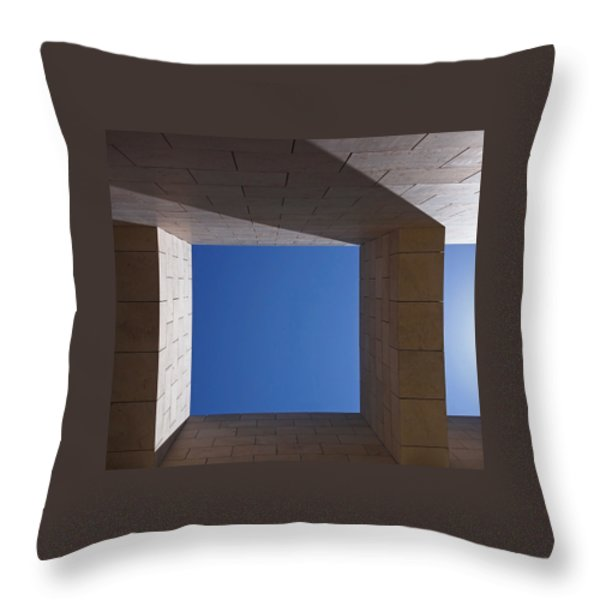 Sky Box at The Getty  Throw Pillow by Rona Black
