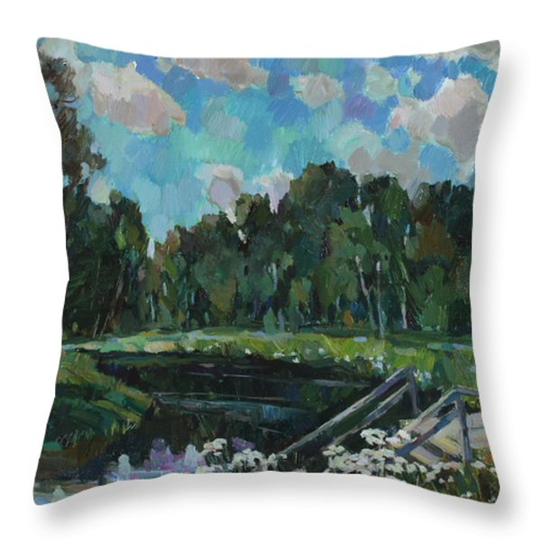 Sky In The River Throw Pillow by Juliya Zhukova
