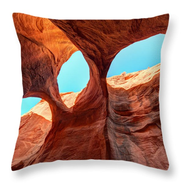Sky Lights Throw Pillow by Dustin  LeFevre