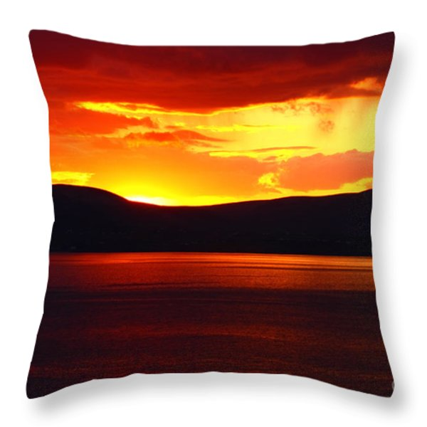 Sky Of Fire Throw Pillow by Aidan Moran