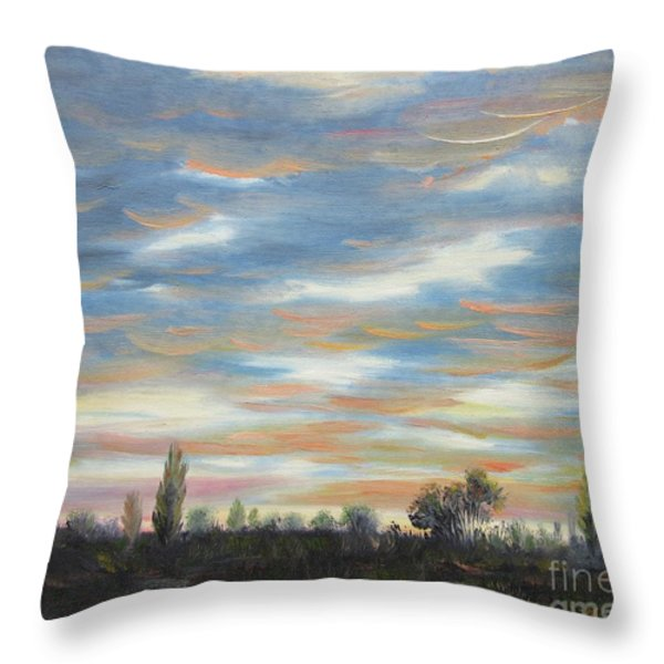 Sky Throw Pillow by Vesna Martinjak