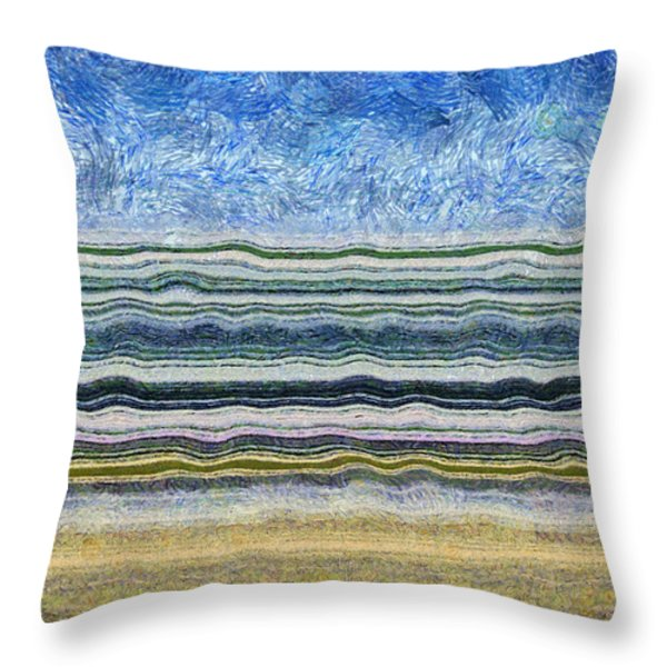Sky Water Earth 2 Throw Pillow by Michelle Calkins