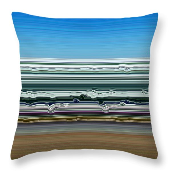 Sky Water Earth Throw Pillow by Michelle Calkins