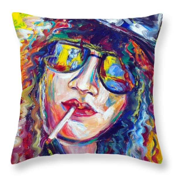 Slash 4 Throw Pillow by To-Tam Gerwe