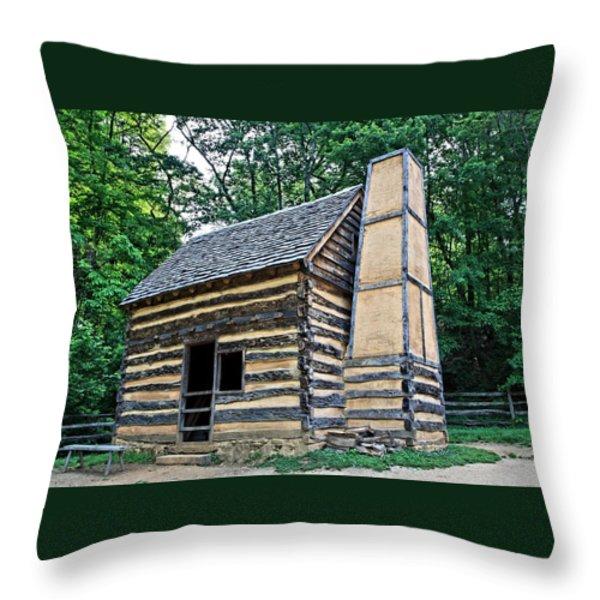 Slave Cabin Throw Pillow by DJ Florek
