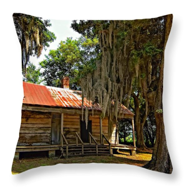 Slave Quarters Throw Pillow by Steve Harrington