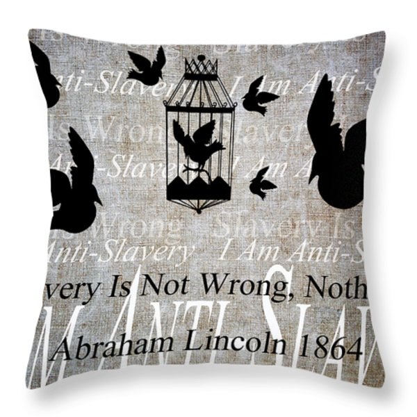 Slavery Throw Pillow by Angelina Vick