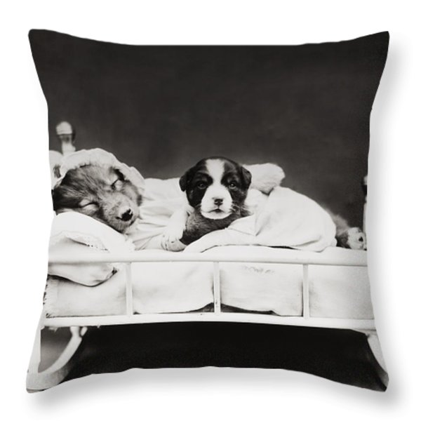 Sleep Over Throw Pillow by Aged Pixel