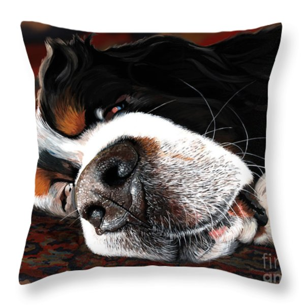 Sleeping Dogs Lie Throw Pillow by Liane Weyers