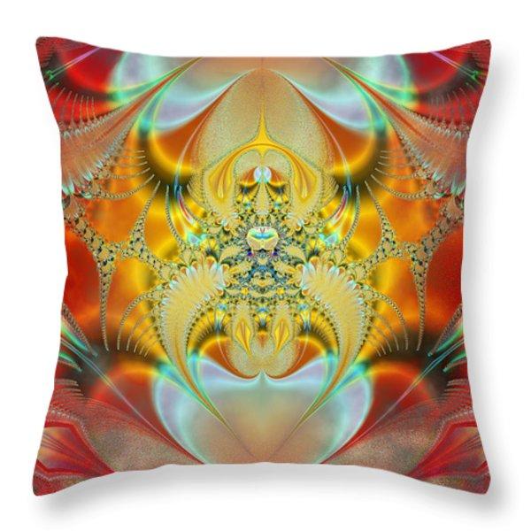 Sleeping Genie Throw Pillow by Ian Mitchell