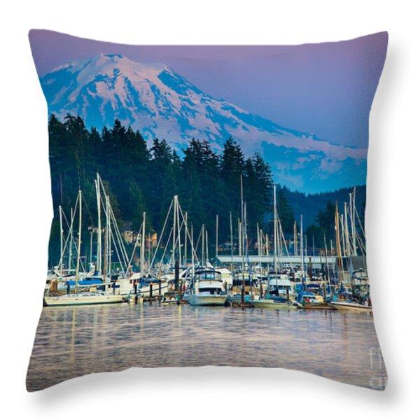 Sleeping Giant Throw Pillow by Inge Johnsson