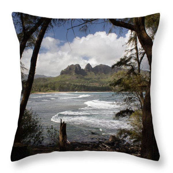 Sleeping Giant Throw Pillow by Suzanne Luft