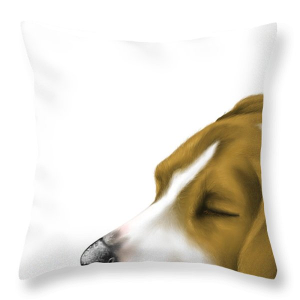 Sleeping Throw Pillow by Veronica Minozzi