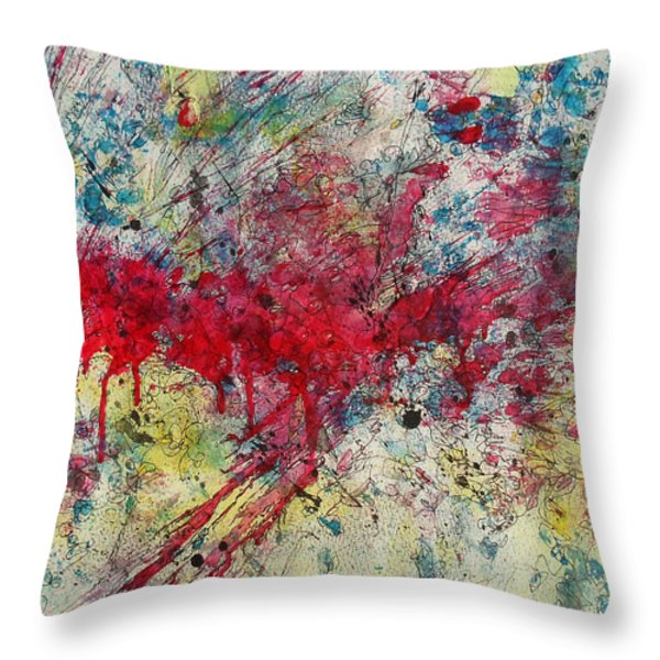 Sleepwalking Throw Pillow by Ronda Stephens