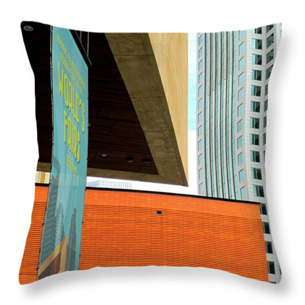 Slice Of Sky Throw Pillow by Randall Weidner