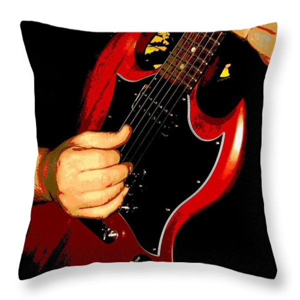 Slide Guitar Throw Pillow by Chris Berry