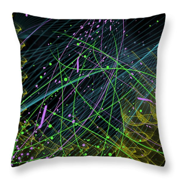 Slinky Celebration Throw Pillow by Camille Lopez
