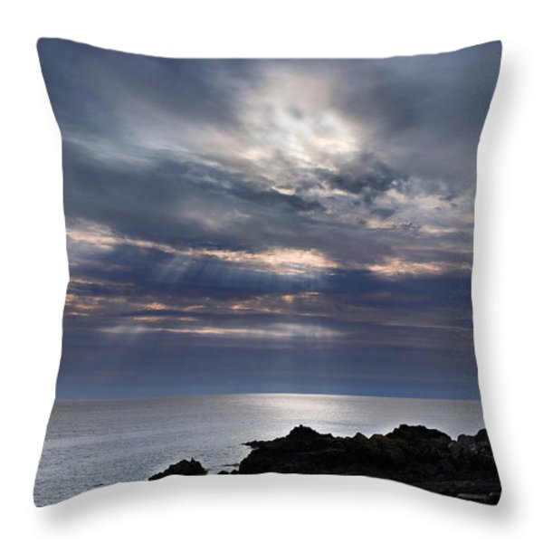 Slipway Throw Pillow by Mark Rogan