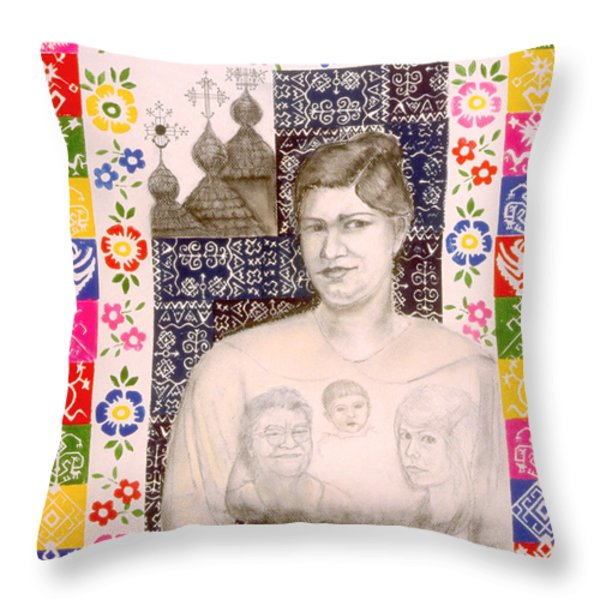 Slovak Grandmother Throw Pillow by Diana Perfect