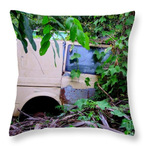 Slow Recycling Throw Pillow by Mary Deal