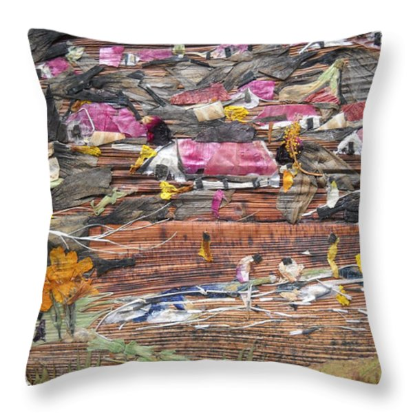 Slum On Hill  Throw Pillow by Basant Soni