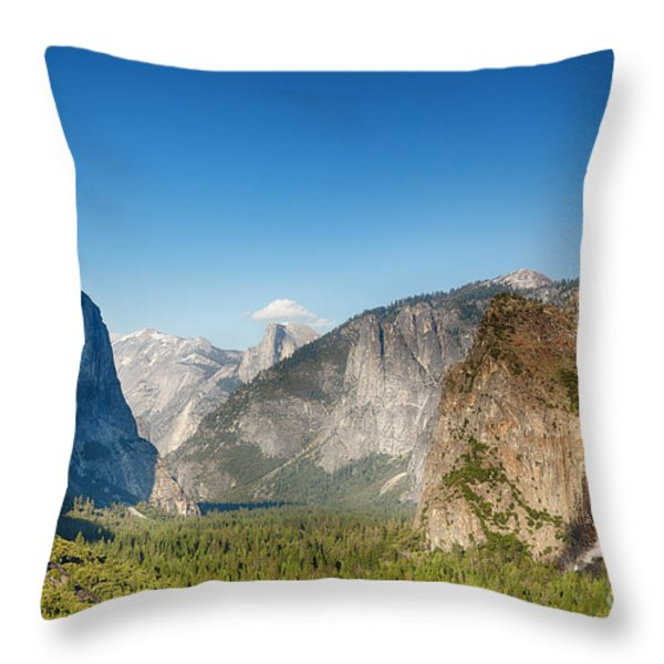 Small Clouds Over The Half Dome Throw Pillow by Jane Rix