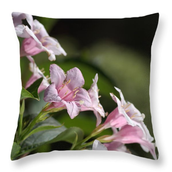 Small Flowers Throw Pillow by Joy Watson
