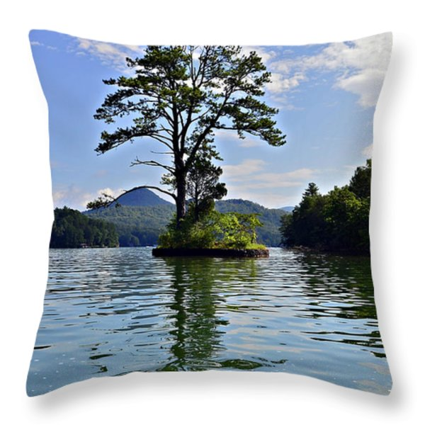 Small Island Throw Pillow by Susan Leggett