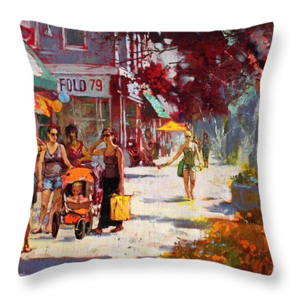 Small Talk In Elmwood Ave Throw Pillow by Ylli Haruni