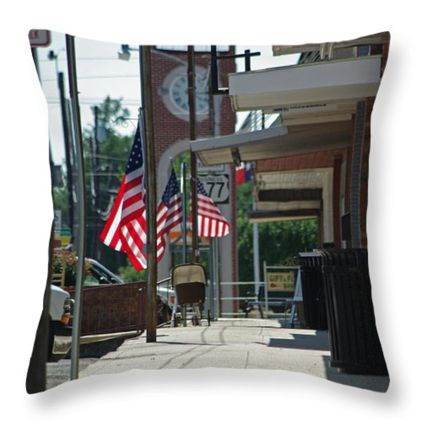 Small Town America Throw Pillow by Robyn Stacey